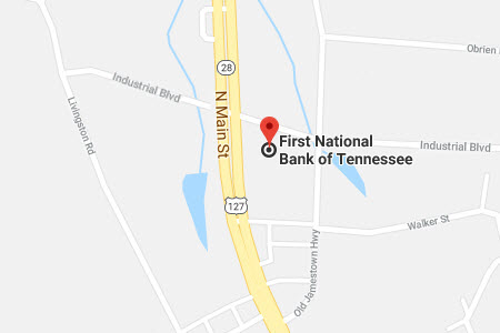 Crossville Office location displayed on Google Map