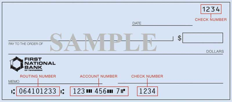Routing Number | Tennessee - TN | First National Bank of